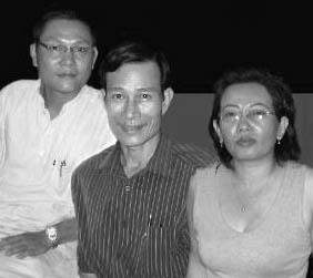 Left to right: Phan Thanh Hai, Dieu Cay, Ta Phong Tan