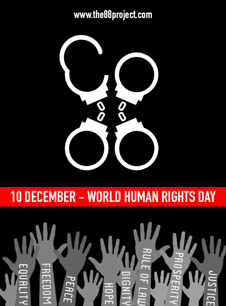 Our graphic for Human Rights Day on December 10th, courtesy of Ella Gancarz