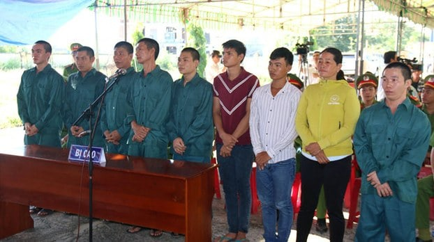 Nine protesters 11.29.18 trial Binh Thuan_Source RFA Vietnamese.jpeg