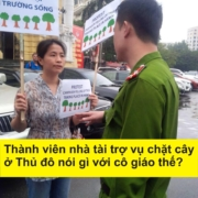 Dao Thu Hue in protest